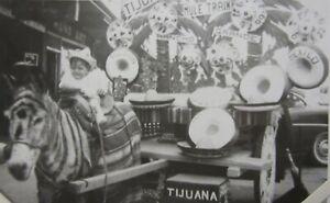 Vintage Tijuana Mexico Zebra Burro Tourist Souvenir Crying Baby Photo 1957