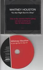 Whitney Houston It's Not Right But It's Okay PROMO MUSIC AUDIO CD Darkchild 3701