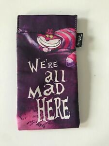 Disney Mad Hatter Glasses Case Pouch - purple