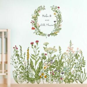 Flower Clusters Wall Decals Removable Wall Stickers DIY Stick and Peel Art Mural