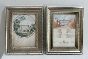 2 Framed Architectural Prints Adrian Chancel & Charles August Huillard