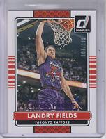 2014-15 Donruss Press Proofs Purple Raptors Basketball Card #59 Landry Fields