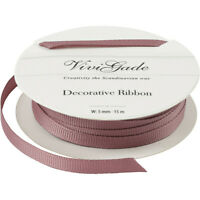 ROSE Quality Reel Grosgrain Ribbon Roll W:5mm x 15 Metres Craft Wrap Christmas