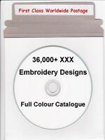 36,000+ XXX Singer Compucon Machine Embroidery Designs & Full Colour Catalogue