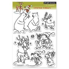 PENNY BLACK RUBBER STAMPS CLEAR CHRISTMAS OUTDOORS STAMP SET