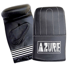 Punch Bag Mitts Boxing Mma Training Glove Cowhide Leather Black Small