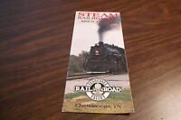 1988 TENNESSEE VALLEY RAILROAD TIMETABLE AND BROCHURE