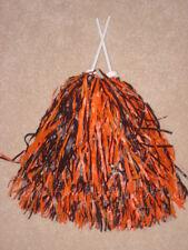 PAIR of ORANGE & BLACK MULTI-COLOR ROOTER Pom Poms  *CINCINNATI BENGALS COLORS*
