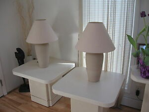 2 end tables & lamps