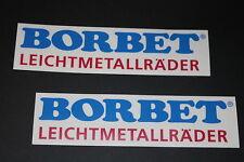 Borbet Leichtmetallräder Alu Felgen Alufelgen Aufkleber Sticker Decal Bapperl