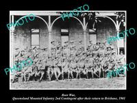 OLD LARGE HISTORIC PHOTO OF BOER WAR AUSTRALIAN SOLDIERS, QLD INFANTRY c1901
