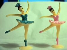 12 Ballerina Ballet Dancer Cake Cupcake Topper Vintage Looking Girl Birthday