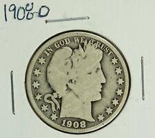 1908-O Barber Half : Very Good  VG