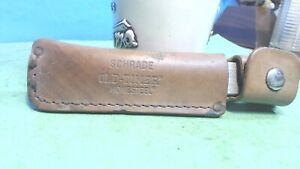 Vintage -SCHRADE Honesteel -Old Timer-- Sharpening Steel  & Belt  Leather Sheath