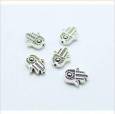 16 Hand Spacer Beads Hamsa Kabbalah Religious Beading Jewelry Fatima 10x8mm
