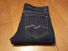 WOMENS SEVEN 7 FOR ALL MANKIND ROXANNE STRAIGHT SKINNY JEANS 27 X 32 VERY NICE!