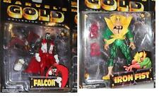 MARVEL Anime Collectors Edition MARVEL GOLD FALCON and Iron Fist Lot MOC
