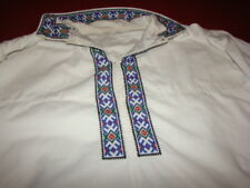 Vintage Ukrainian embroidered men's shirt Poltava reg # 470