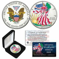 2019 1 oz Colorized 2-Sided American Silver Eagle (BU) with BOX & CERTIFICATE