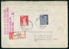 MayfairStamps Germany Diedorf Registered to Wilmington Delaware Censored Cover w