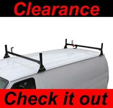 Chevy Express 1996-2016 Van 2 bar Ladder Roof Racks Steel BLACK Rack