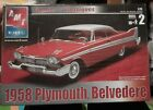 AMT Ertl 1958 Plymouth Belvedere Red Diecast Car Model Kit 1:25 Scale 2003 NIB