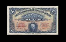 1940 COMMERCIAL BANK OF SCOTLAND 1 POUND **X-RARE** (( EF+ ))