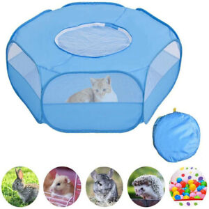 Portable Small Animal Cage Tent Cat Rabbit Hamster Playpen Breathable Tent