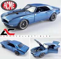 p ACME A1805211 1:18 1968 PONTIAC FIREBIRD STREET FIGHTER (LUCERNE BLUE)