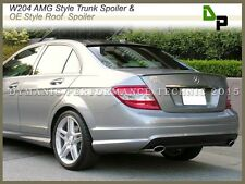 #744/775 AMG Trunk Spoiler & #040 OE Roof Wing For BENZ W204 C-Class Sedan 08-14