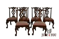 MAITLAND SMITH Set of 6 Ball And Claw Mahogany Dining Chairs