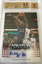 2014 LEAF NATIONAL ROOKIE RC AUTO: ANDREW WIGGINS #AWA04 BGS 9.5 AUTOGRAPH 10
