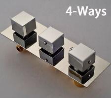 Chrome Brass Thermostatic Triple Mixer Valve Shower Faucet Cartridges 4 Ways