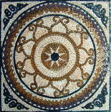 "20"" Handmade Decorative Geometric wall floor Marble Mosaic Art Stone Tile Decor."