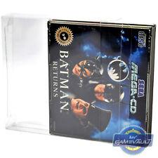 5 x Sega Mega CD Video Game Box Protectors STRONG 0.4mm PET Plastic Display Case