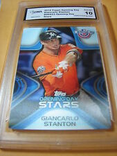 GIANCARLO MIKE STANTON MARLINS 2013 TOPPS OPENING DAY STARS # ODS23 GRADED 10