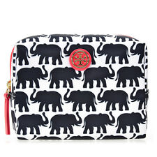 Tory Burch Printed Nylon Cosmetic Bag - Elephant Print