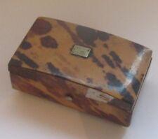 BOITE EN FAUSSE ECAILLE XIX ANTIQUE FAUX TORTOISE SHELL BOX CASE THIMBLE HOLDER