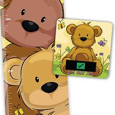 Oso De Peluche Altura chart & Bear Baño Termómetro Set