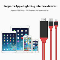 Lightning to HDMI TV AV 1080p 8 Pin 2M Cable Adapter for iPhone 7 6 5 iPad UK