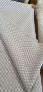 OSBORNE & LITTLE MARGARITA WHITE / STONE UPHOLSTERY FABRIC 240cm X 138cm