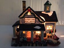 Dickens Christmas Village Porcelain Lighted House Boathouse Towne Series EUC