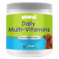 Natural Multi-Vitamins for Dogs for with Minerals and Antioxidants 60 Soft Chews