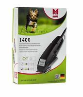 Moser 1400 - Máquina cortapelo para animales, Set Clam Shell Potencia 10W 230 V