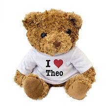 NEW - I LOVE THEO - Teddy Bear Cute Cuddly Gift Present Birthday Valentine Xmas