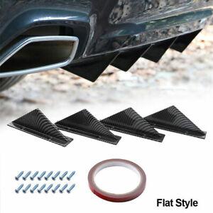 Universal Car SUV Back Rear Bumper Lip Diffuser Shark Fin Spoiler Protect Cover