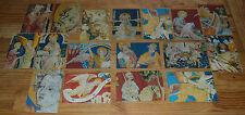 Lot de 17 cartes postales sur le thème de la Tapisserie de l'Apocalypse à Angers