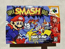Super Smash Bros N64 Replacement Box Game Case With Insert