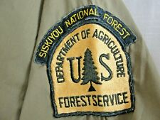 Vintage Department of Agriculture Siskiyou National Forest Service Shirt  USFS M