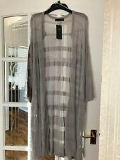 Neues AngebotSchöne Bnwt m&s silbergrau lange leichte Sommer Cardigan S XL